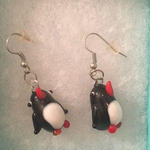 Adorable penguin earrings!